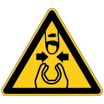 Aufkleber Warnung vor Fingerquetschung