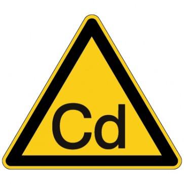 Aufkleber Warnung vor Cadmium - Schwermetalle