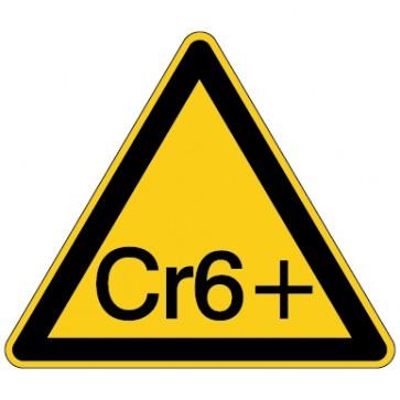 Aufkleber Warnung vor Chromat - Hexavalentes Chrom