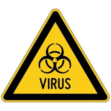 Warnschild Warnung vor Virus