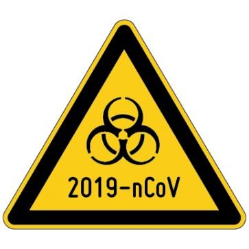 Warnschild Warnung vor 2019-nCoV