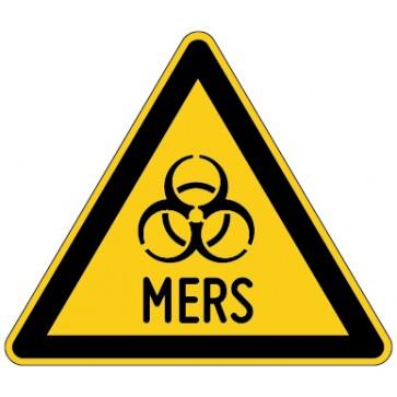 Warnschild Warnung vor MERS
