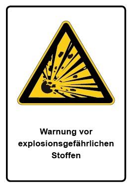 Kombi Aufkleber Warnung vor explosionsgefährlichen Stoffen