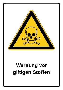 Kombi Schild Warnung vor giftigen Stoffen
