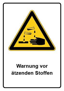 Kombi Aufkleber Warnung vor ätzenden Stoffen