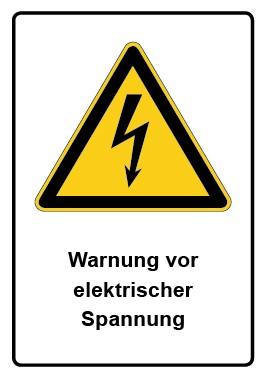 Kombi Aufkleber Warnung vor elektrischer Spannung
