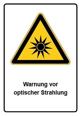 Kombi Aufkleber Warnung vor optischer Strahlung