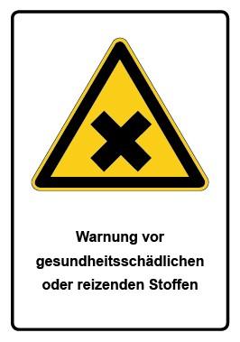 Kombi Aufkleber Warnung vor gesundheitsschädlichen oder reizenden Stoffen