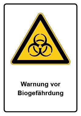 Kombi Aufkleber Warnung vor Biogefährdung