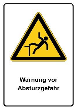 Kombi Aufkleber Warnung vor Absturzgefahr
