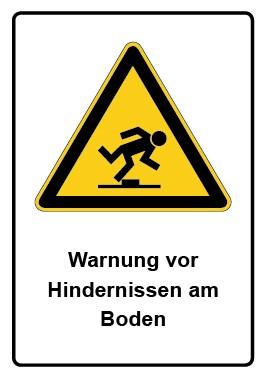 Kombi Aufkleber Warnung vor Hindernissen am Boden