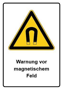 Kombi Aufkleber Warnung vor magnetischem Feld