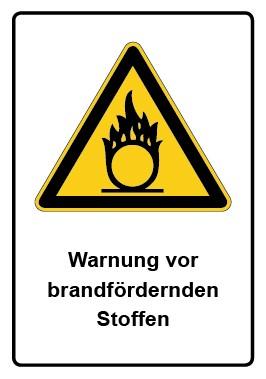 Kombi Aufkleber Warnung vor brandfördernden Stoffen