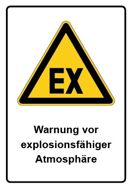 Kombi Schild Warnung vor explosionsfähiger Atmosphäre