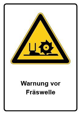 Kombi Aufkleber Warnung vor Fräswelle