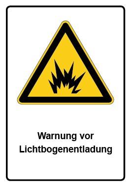 Kombi Aufkleber Warnung vor Lichtbogenentladung