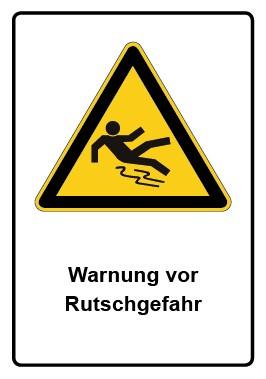 Kombi Aufkleber Warnung vor Rutschgefahr