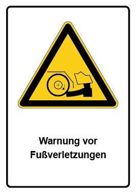 Kombi Aufkleber Warnung vor Fußverletzungen