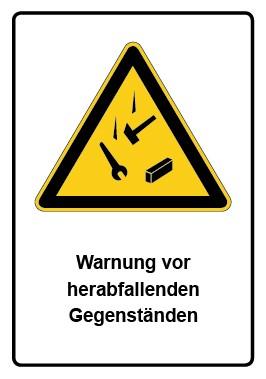 Kombi Aufkleber Warnung vor herabfallenden Gegenständen