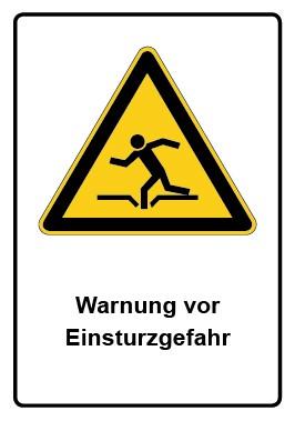 Kombi Schild Warnung vor Einsturzgefahr