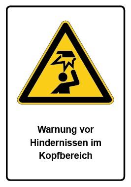 Kombi Schild Warnung vor Hindernissen im Kopfbereich