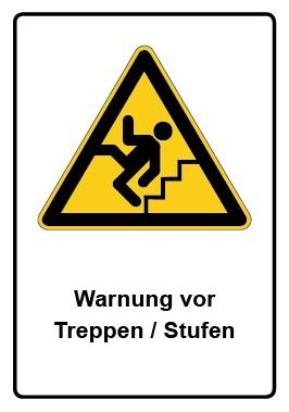 Kombi Aufkleber Warnung vor Treppe · Stufen