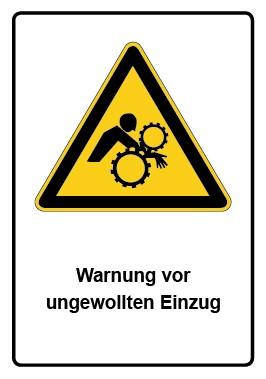 Kombi Aufkleber Warnung vor ungewollten Einzug