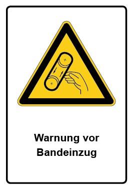 Kombi Aufkleber Warnung vor Bandeinzug