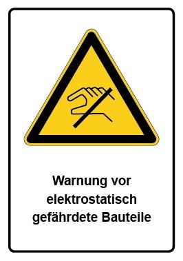 Kombi Aufkleber Warnung vor elektrostatisch gefährdete Bauteile