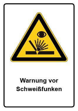 Kombi Aufkleber Warnung vor Schweißfunken