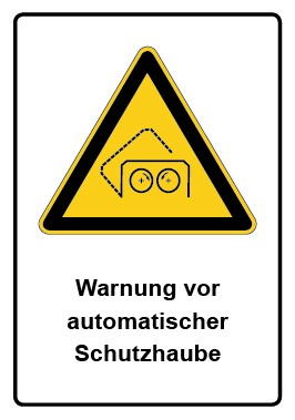 Kombi Aufkleber Warnung vor automatischer Schutzhaube