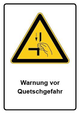 Kombi Aufkleber Warnung vor Quetschgefahr