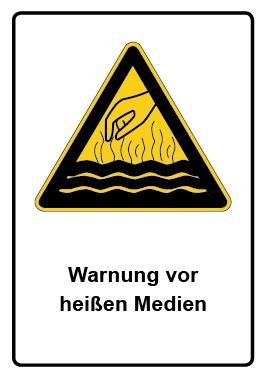 Kombi Aufkleber Warnung vor heißen Medien