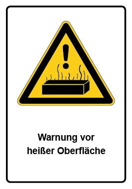 Kombi Aufkleber Warnung vor heißer Oberfläche