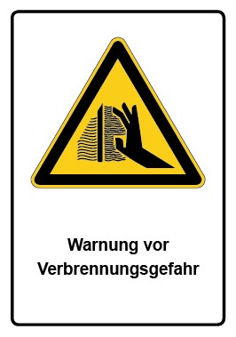 Kombi Aufkleber Warnung vor Verbrennungsgefahr