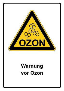 Kombi Aufkleber Warnung vor Ozon