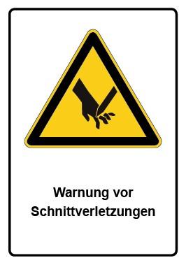 Kombi Aufkleber Warnung vor Schnittverletzungen