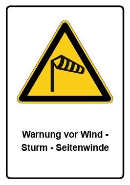 Kombi Aufkleber Warnung vor Wind - Sturm - Seitenwinde