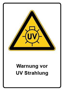 Kombi Aufkleber Warnung vor UV Strahlung
