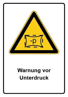Kombi Aufkleber Warnung vor Unterdruck