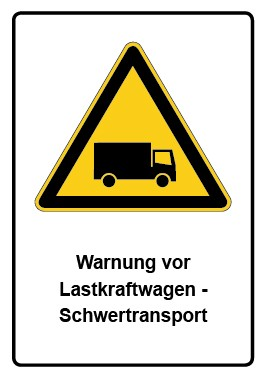 Kombi Aufkleber Warnung vor Lastkraftwagen - Schwertransport