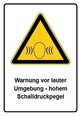 Kombi Aufkleber Warnung vor lauter Umgebung - hohem Schalldruckpegel