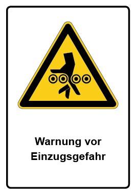 Kombi Aufkleber Warnung vor Einzugsgefahr
