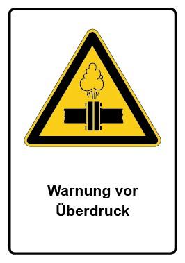 Kombi Aufkleber Warnung vor Überdruck