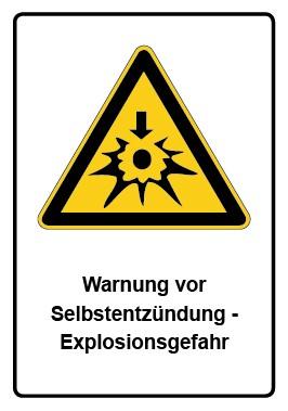 Kombi Aufkleber Warnung vor Selbstentzündung - Explosionsgefahr