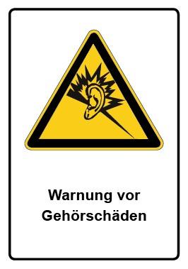 Kombi Aufkleber Warnung vor Gehörschäden