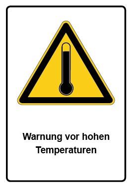 Kombi Aufkleber Warnung vor hohen Temperaturen