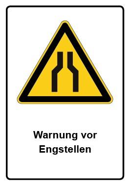 Kombi Aufkleber Warnung vor Engstellen