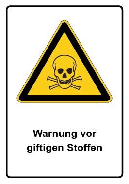 Kombi Aufkleber Warnung vor giftigen Stoffen