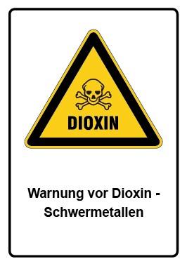 Kombi Aufkleber Warnung vor Dioxin - Schwermetallen